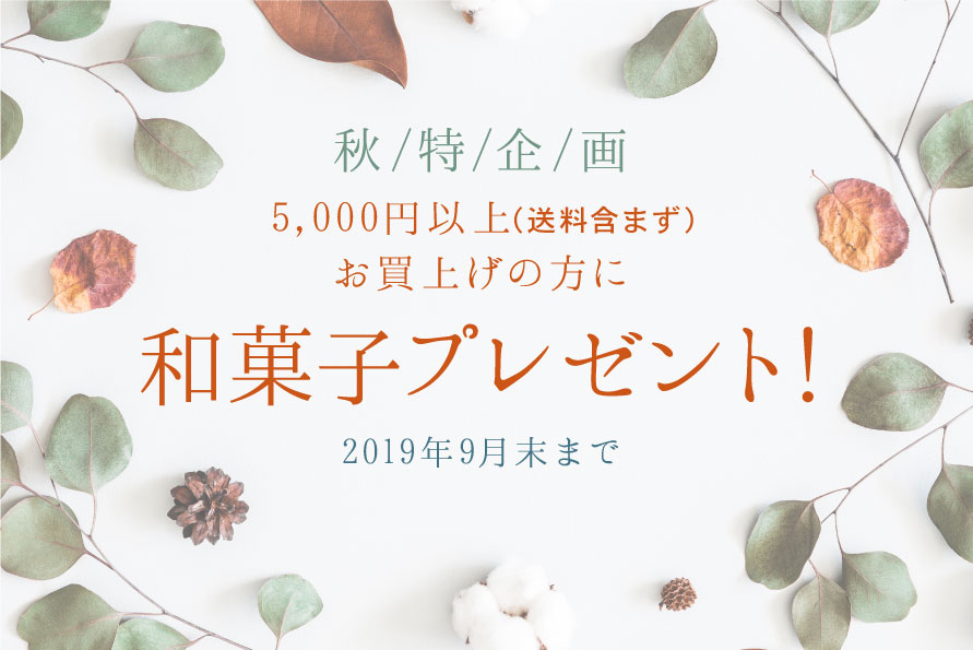 秋特企画 和菓子プレゼント!